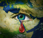Violência no Médio Oriente Foto de Stock