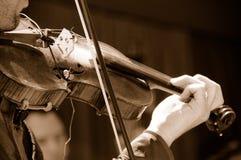 Violín acústico amplificado Foto de archivo