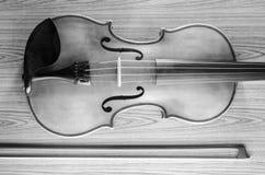 Violín blanco y negro Imagen de archivo