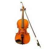 Violín con el fiddlestick Imagen de archivo libre de regalías