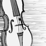 Violín del Grunge. ilustración del vector