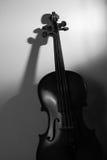 Violín en blanco y negro Foto de archivo