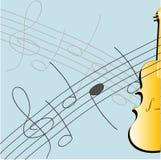 Violín y música ilustración del vector