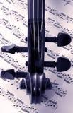 Violín y música Foto de archivo