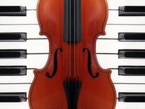 Violín y piano Fotografía de archivo libre de regalías