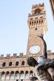 Viol de statue de fin de Sabine Women haut et de Palazzo Photographie stock libre de droits