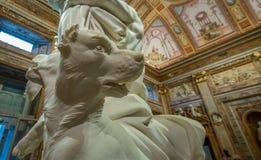 Violação da escultura de Proserpina na galeria Borghese Fotos de Stock Royalty Free