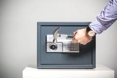 Violação da segurança fotografia de stock