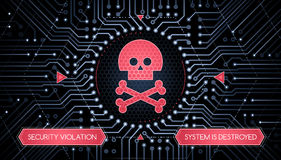 Violação de segurança - conceito de Infographical Foto de Stock Royalty Free