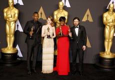 Viola Νταίηβις, Casey Affleck, Al Mahershala, Emma Stone Στοκ φωτογραφία με δικαίωμα ελεύθερης χρήσης