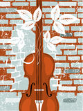 Viola. Vector illustration of Viola and old wall Stock Image
