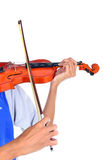 Viola being played by a musician Royalty Free Stock Images