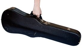 Viola case I. Hand carrying a viola case Stock Photography