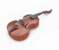 Viola close-up. On white background. Music instrument. 3d illustration Stock Image