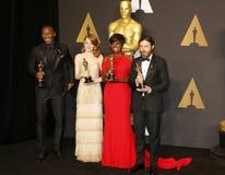 Viola Davis, Casey Affleck, Mahershala Ali and Emma Stone Royalty Free Stock Photo