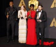 Viola Davis, Casey Affleck, Mahershala Ali and Emma Stone Stock Image