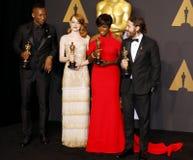 Viola Davis, Casey Affleck, Mahershala Ali and Emma Stone Stock Photos
