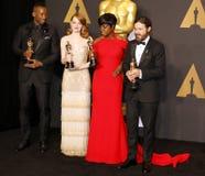 Viola Davis, Casey Affleck, Mahershala Ali and Emma Stone Royalty Free Stock Images