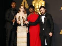 Viola Davis, Casey Affleck, Mahershala Ali and Emma Stone Stock Images