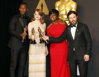 Viola Davis, Casey Affleck, Mahershala Ali and Emma Stone Royalty Free Stock Image
