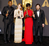 Viola Davis, Casey Affleck, Mahershala Ali and Emma Stone Stock Photo