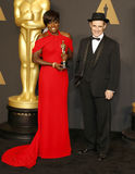 Viola Davis et Mark Rylance Images stock