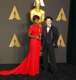 Viola Davis et Mark Rylance Photo stock