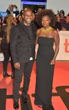 Viola Davis and Julius Tennon at `Widows` premiere stock image