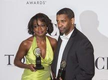 Viola Davis y Denzel Washington Big Winners en 64.o Tonys en 2010 Imágenes de archivo libres de regalías
