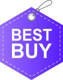 Viola dell'etichetta dell'etichetta di Best Buy royalty illustrazione gratis