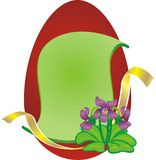Viola della BG dell'uovo di Pasqua Fotografia Stock Libera da Diritti