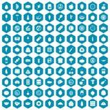 viola della saffirina di 100 icone di nutrizione Fotografia Stock Libera da Diritti