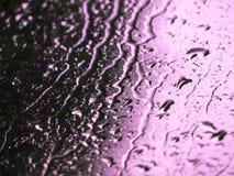 Viola delle gocce di pioggia del fondo fotografia stock libera da diritti