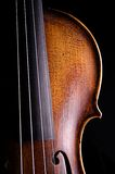 Viola do violino isolada no preto Fotos de Stock