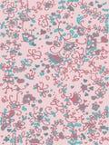 Viola ed azzurro floreali di colore rosa del reticolo Immagini Stock
