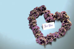 Viola Heart Wreath Royalty Free Stock Images