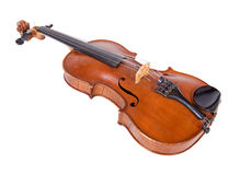 Viola isolated on white background. Instrument for classical music. The old fiddle Royalty Free Stock Photo