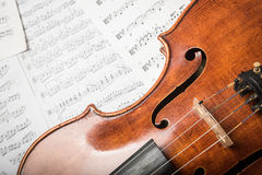 Viola on the notes Royalty Free Stock Images