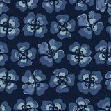 Viola Pansy Floral Seamless Vector Pattern Fleur Boho d'aquarelle illustration de vecteur