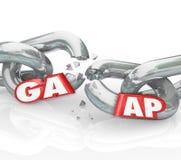 Viola quebrada geralmente aceitada das correntes dos princípios contabilísticos de GAAP Foto de Stock Royalty Free