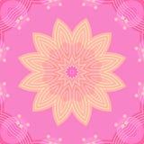 Viola rosa beige del fiore senza cuciture Immagine Stock