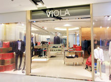 Viola shop in hong kong Royalty Free Stock Photo