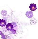 Viola stilizzata Fotografia Stock