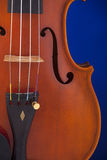 Viola Violin Isolated on Blue Stock Images