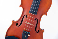 Viola Violin Isolated on White Stock Photos