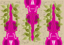 Viola wallpaper. Vector illustration of three Viola Stock Photo
