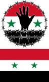 Violación de los derechos humanos en Siria Imágenes de archivo libres de regalías