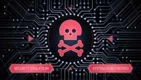 Violación de seguridad - concepto de Infographical Foto de archivo libre de regalías