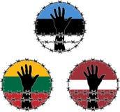 Violação dos direitos humanos nos Estados Bálticos Imagem de Stock