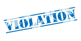 Violation blue stamp. Isolated on white background Royalty Free Stock Photo